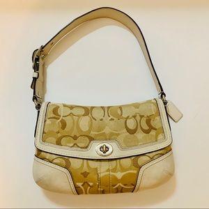 Authentic Coach Canvas/Leather purse